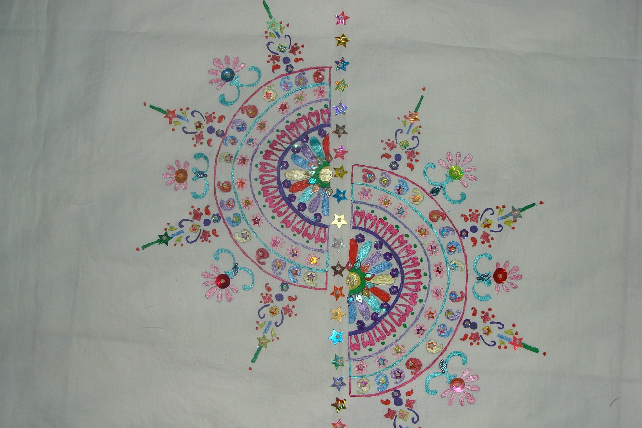 Fabric painting and embroidery creative sanchal